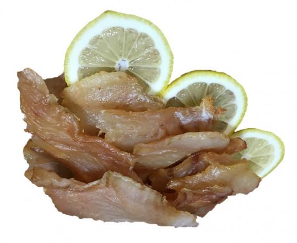 Gedörrte Rotbarschchips