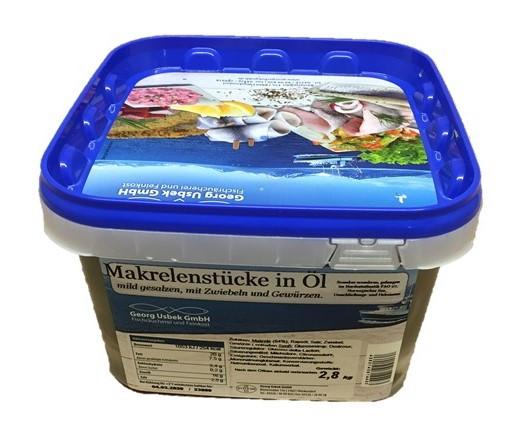 Makrele in Öl- Mild- 2.8 kg